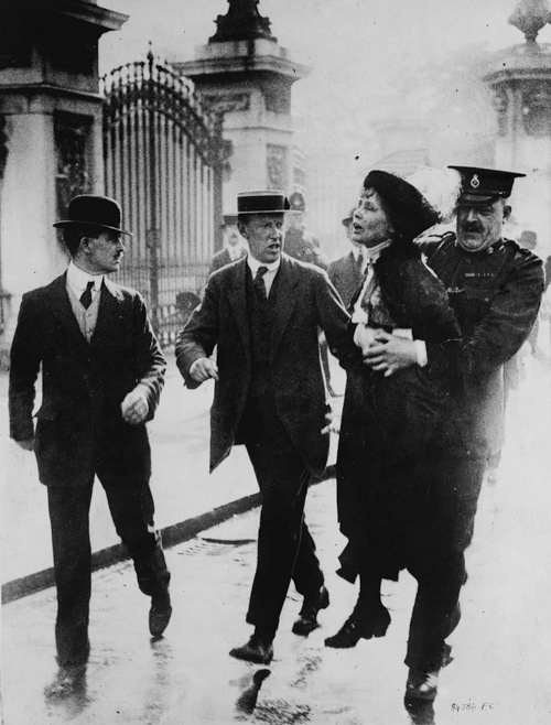 Emmeline Pankhurst, the first suffragette, who fought for and won women's right to vote.