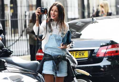: Fashion Outfit, Dungarees, Inspiration, Pictures This, Denim Over, Street Styles, Leather Jackets, Cutest Outfit, Overalls