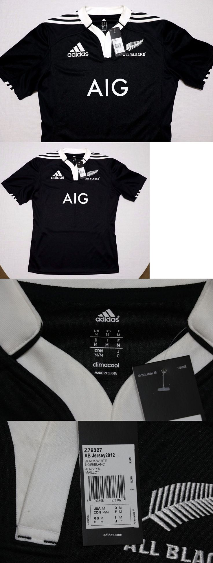 Other Fan Apparel and Souvenirs 465: 2013 Adidas All Blacks New Zealand Rugby Team Jersey Medium ~ New -> BUY IT NOW ONLY: $50 on eBay!