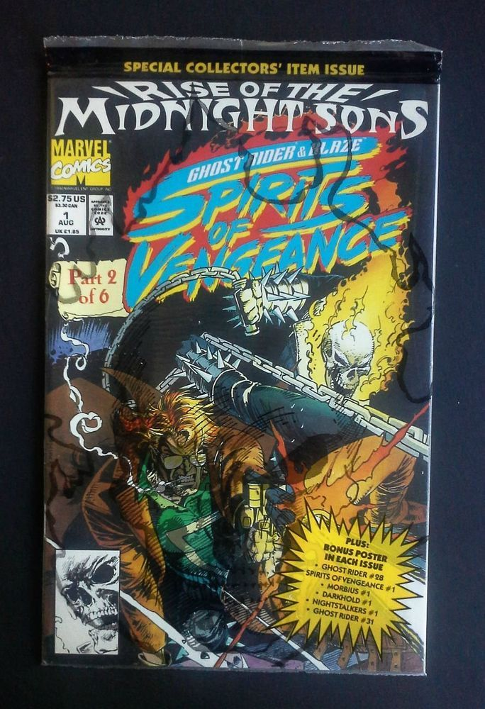 Ghost Rider Blaze Rise Of The Midnight Sons Spirits Vengeance Comic Book 1