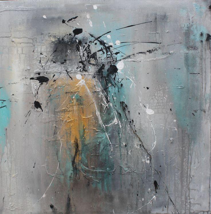 """Float"" 60x60cm Cecilie Sundfærs Malerier Www.CilleDill.no"
