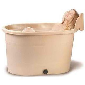 A great alternative to traditional bathtub. No installation needed, just lay it on the floor and fill in with water to use. Our portable bathtubs fits in HDB size bathhroom. This model is smaller in length. Slightly deeper. Smalller in width, with an oval shape. The unique feature found in this model is attach with a