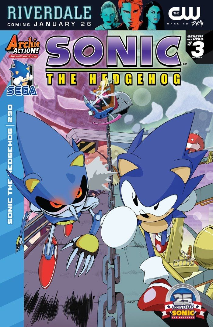 Archie Comics Says Farewell to Sonic the Hedgehog  After 24 years Sonic the Hedgehog will be leaving his home at Archie Comics and moving elsewhere. That new broke last night as Sega of America revealed (via the official Sonic the Hedgehog Twitter account) that they're terminating their partnership with the publisher.  Sega's full statement reads:  After 24 years of memorable storytelling SEGA of America will conclude their Sonic the Hedgehog publishing partnership program with Archie…