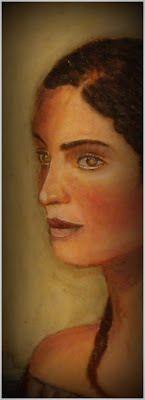 "Elena o la partenza. Encausto su tavola d'abete by P. Fundaro 2007 -pubblicato su ""The Eternal Gaze"" espera 2012"