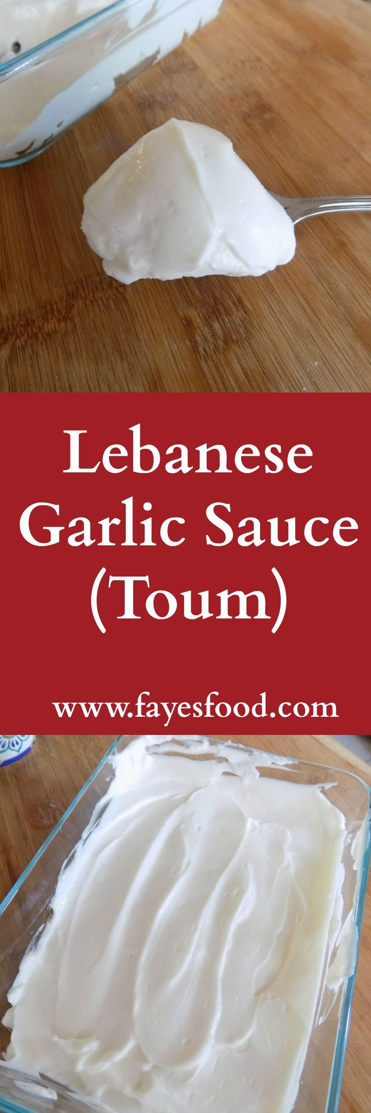 Delicious Lebanese garlic sauce, also known as toum. Great with chicken, meat, fries and pretty much anything.  #garlicsauce #lebaneserecipes #toumrecipe