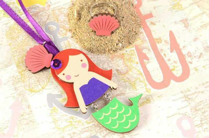 Little Mermaid for Little Girls, pendant by Mintapalinta