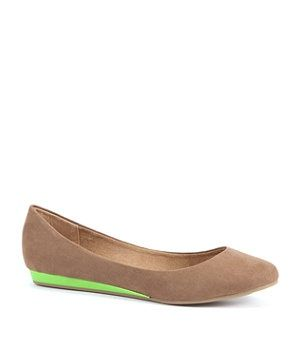 neon green ballet pumps new look - Google Search