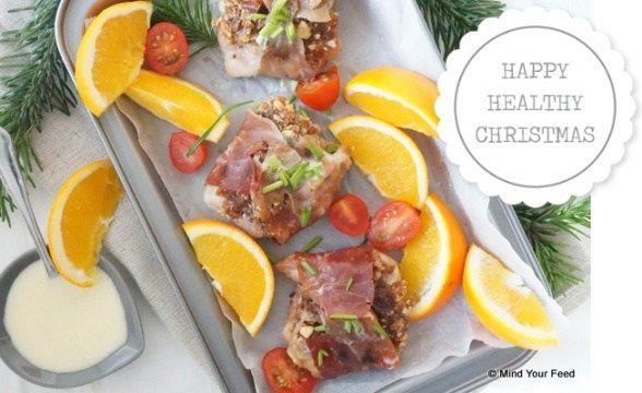 Kipfilet in parmaham met dadels en noten - Mind Your Feed