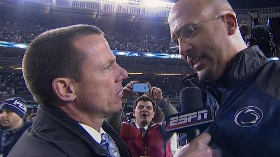 A heart-breaker for Boston College, a moment of 'redemption' for Penn State at Yankee Stadium in the Pinstripe Bowl; victory in a football game - and knowing that none of these players or coaching staff had anything to do with everything that went down - does not erase the sins committed. Let us never forget what Jerry Sandusky did to those kids, or the shameful way the university covered for him ...  https://www.facebook.com/pages/Bay-State-Conservative-News/232712126794242