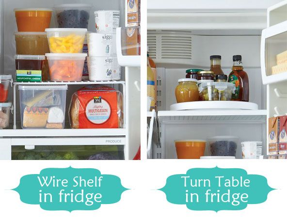 8 Organizing Tips for the kitchen.: Wire Shelves, Organizations Tips, Lazy Susan, Organizations Ideas, Wire Racks, Storage Ideas, Diy Projects, Fridge Organizations, Kitchens Organizations