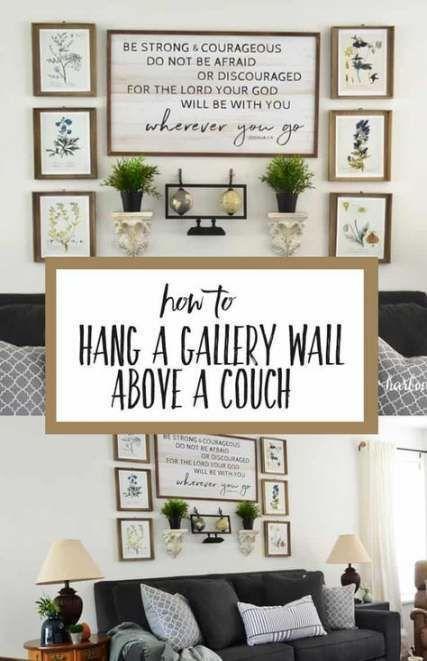 Farmhouse style wall decor above couch 58 ideas …