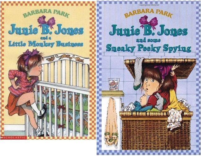 Junie B. Jones Series by Barbara Park: Book 2 - Very Good & Book 4 - Acceptable,