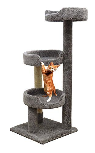 Carpet Kitty Tower Scratching in Gray Cat Tree Scratcher for Large Cats * Tried it! Love it! Click the image.(This is an affiliate link and I receive a commission for the sales) : Cat Condo Tree Tower