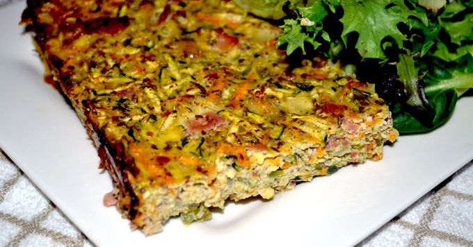 paleo zucchini slice, a hit with my whole family