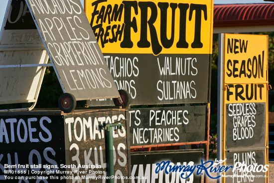 You can't bring fruit into the Riverland.  but why would youwant to;  Nothing beats fresh, locally grown fruit, straight from the Market, or a roadside stall.
