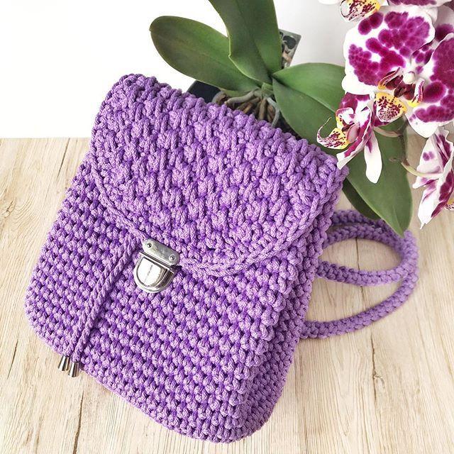 73be274f6bfb вязаный рюкзак на заказ из шнура, рюкзак крючком, купить рюкзак из  трикотажной пряжи.
