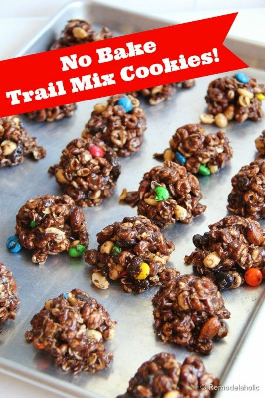 No Bake Trail Mix Cookies Recipe | Remodelaholic