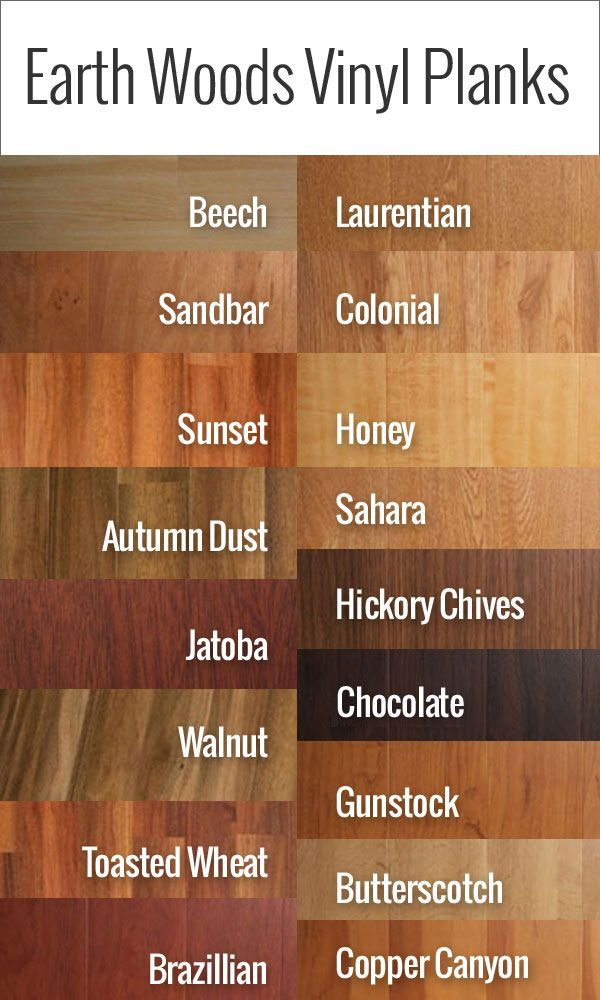 Earth Woods Vinyl Planks that look like real wood. For more information, visit: http://www.flooringinc.com/vinyl/planks/traditional-woods-vinyl-planks.html