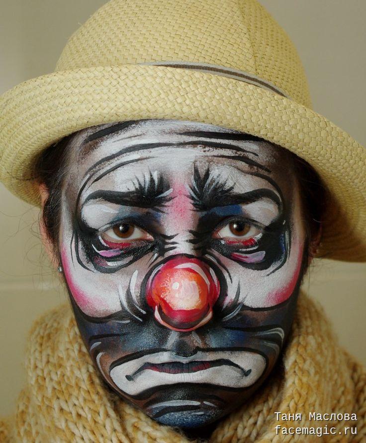 Sad clown. Face paint by Tanya Maslova.