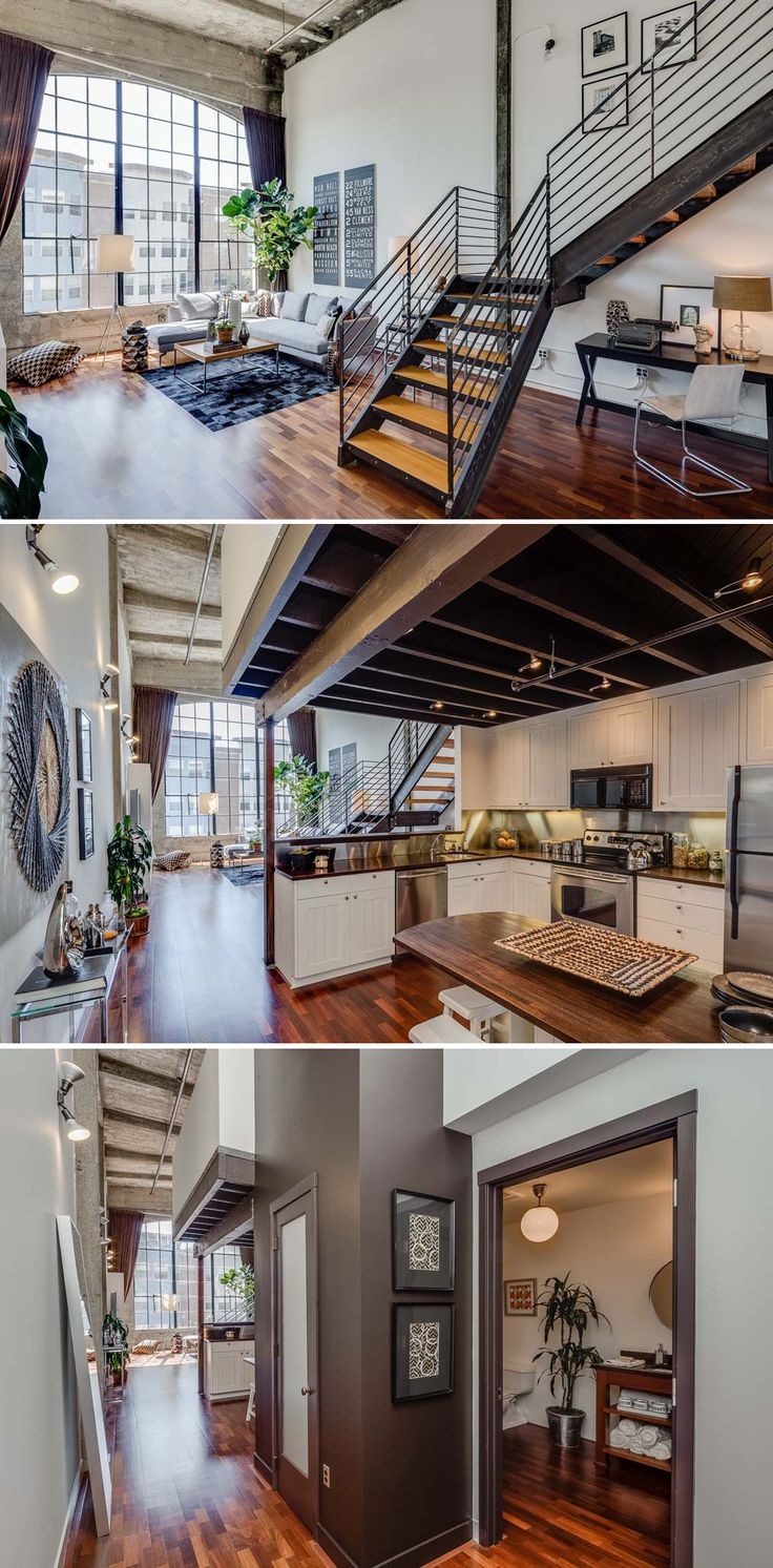 Howard Street Loft in San Francisco by Climb Real Estate | high ceiling | large windows | contemporary loft space | industrial loft | living room | residential interiors