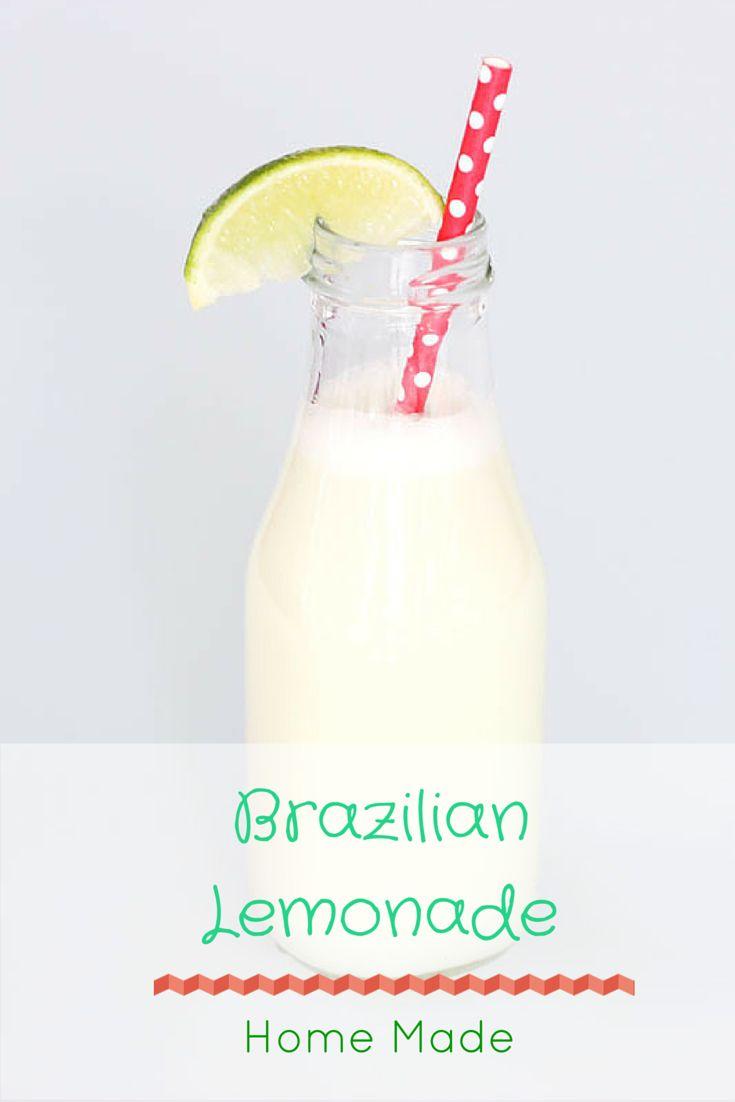 Home Made Brazilian Lemonade Recipe | Zelfgemaakte Braziliaanse Limonade. Ik vond het recept nadat ik dit drankje voor het eerst proefde op een food-festival. Heerlijk!
