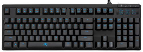 Sentey@ Cobalt Pro Mechanical Keyboard Blue LED Backlight Mechanical Keyboard / Cherry Black Keys / Gaming or Working / Wrist Wrest / USB 2.0 Hub + Audio / Wrist Rest and Gaming Keycaps Included / 119 Keys Us Layout / 3 Macro Keys Optimized for Gaming + 6 Programmable and Customizable Macro Keys / Includes a Carrying Case / Key Stroke 50 Millon Times / Laser Engraved / Volume Control, Play Pause and Forward, Multimedia Keys , 10 Programmable Macro Keys, Internal Memory 128k , Individual LED…