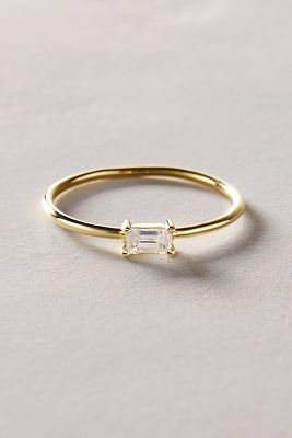 Liven Co. Baguette Diamond Ring in 14k Yellow Gold #anthroregistry