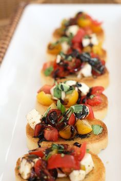 Looking for a non-traditional app for the Big Game? Try this Trio of Bruschettas: Classic, Caprese, and a deliciously-sweet Strawberry Bruschetta.  ,