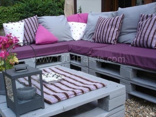 Wooden Pallet Garden Sofa Plans | Pallets Designs