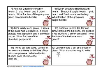 Valentines A Hoot - Fraction Centers $