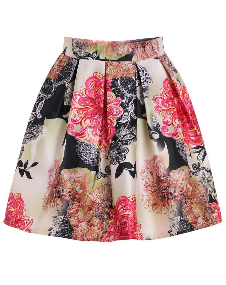 Whimsical dandelion a line skirt #skirt #fashion #style