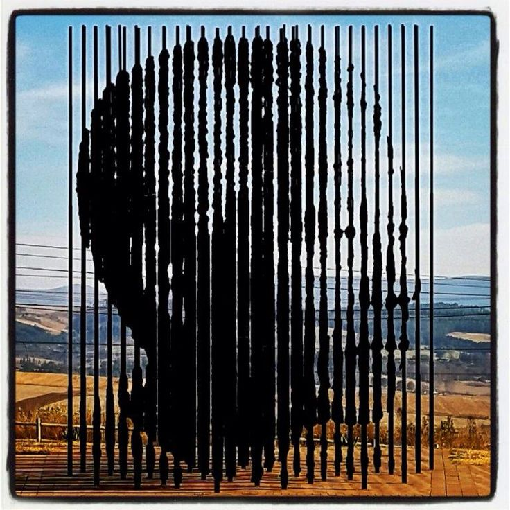 The beautiful and incredible sculpture of #NelsonMandela, #capturesite, Midlands, KZN... Photograph by Craig Adam...