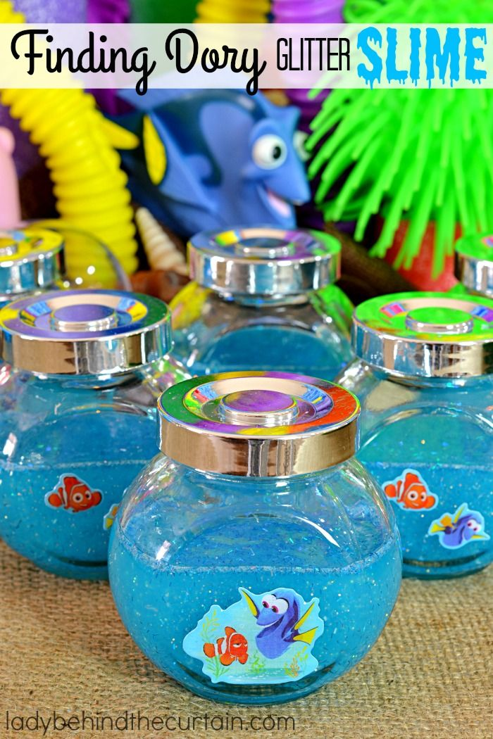 How To Make Finding Dory Glitter Slime   Create a fun and easy activity for the kids this summer and celebrate the release of the new movie Finding Dory by making Glitter Slime!