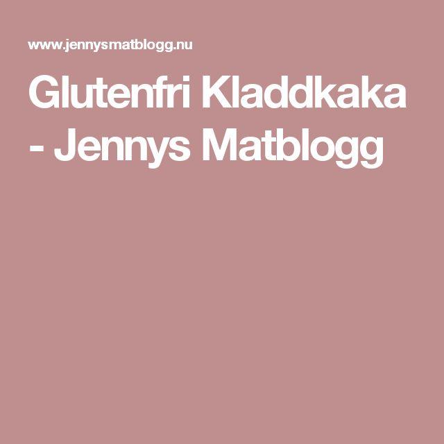Glutenfri Kladdkaka - Jennys Matblogg