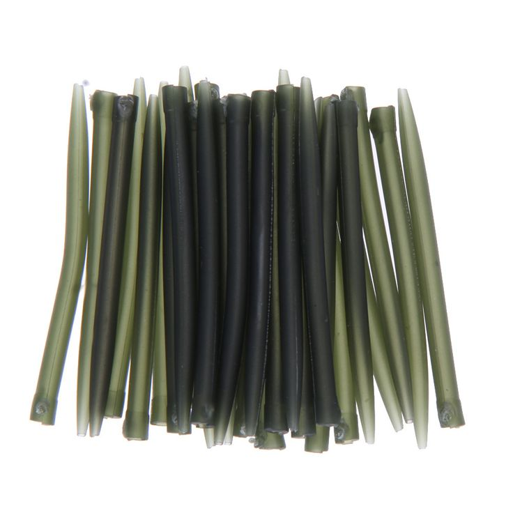30pcs 53mm 0.28g New Cheap Fishing Accessories Fishing Anti Tangle Sleeves Connect with Hook for Carp Fishing Tackle