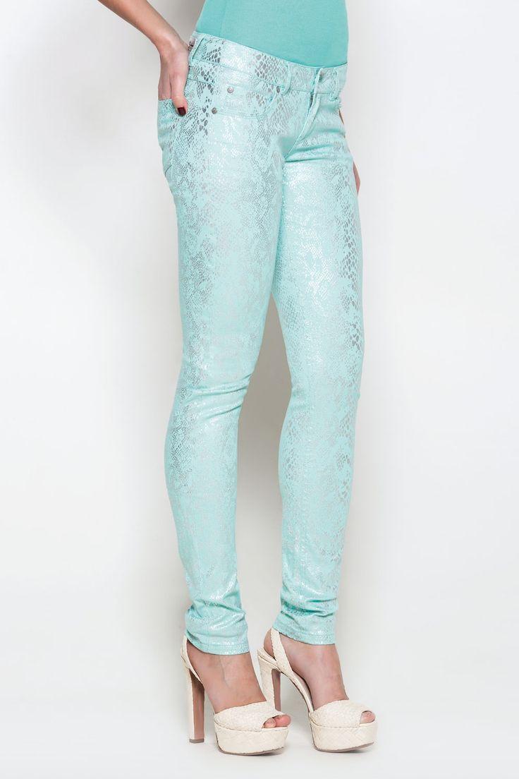 Брюки женские бирюзовые (51600111) размеры XS, S, M, L. Купить дешево в интернет-магазине Concept Club.