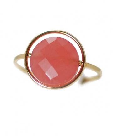 Bague personnalisable or et pierres interchangeables de Paola Zovar chez LESSisRARE.fr rhodochrosite rose 360.00€