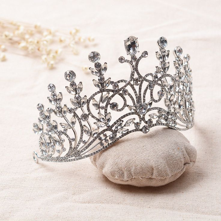 Bride Rhinestone Crystal  Pageant Tiara Luxury Bridal  Wedding Crown Jewelry