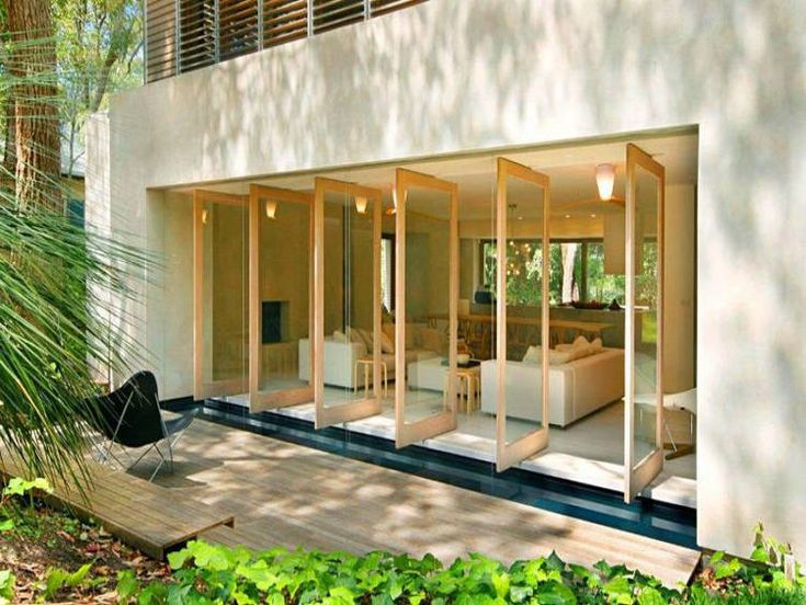 Great pivot doors for living area. Modern Pearl Beach