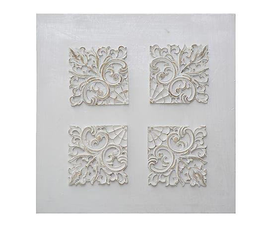 """Nástěnná dekorace """"Florence"""", 48 x 2,5 x 48 cm"""