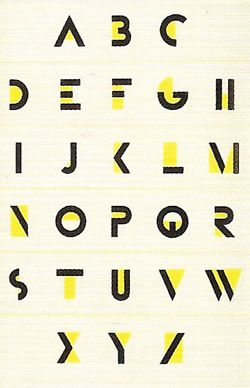 A.M. Cassandre - Bifur Alphabet art deco, daring innovation typography print design