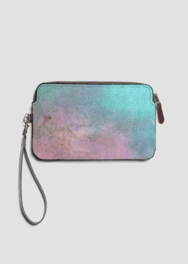 Leather Statement Clutch - BLUEWAVE by VIDA VIDA