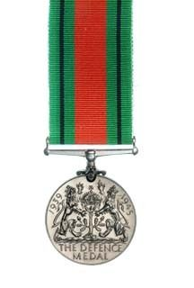 The Defence Medal reverse view
