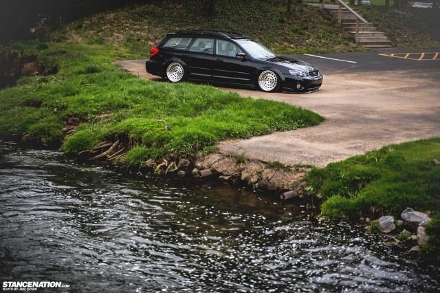 Slammed & Stanced Subaru Legacy Outback Wagon (15)
