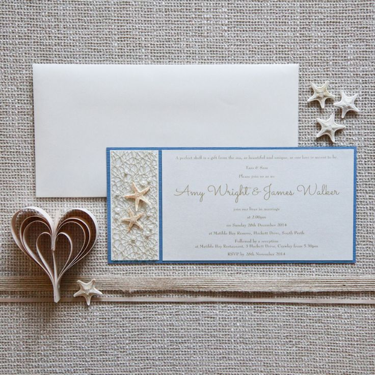 tie the knot wedding invitations etsy%0A Ocean and beach inspired wedding invitations  stationery  From Starfish  Lane  Perth