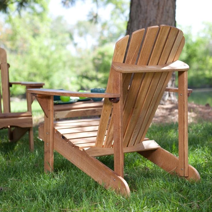 Hampton Deluxe Oak Adirondack Chair - Adirondack Chairs at Hayneedle