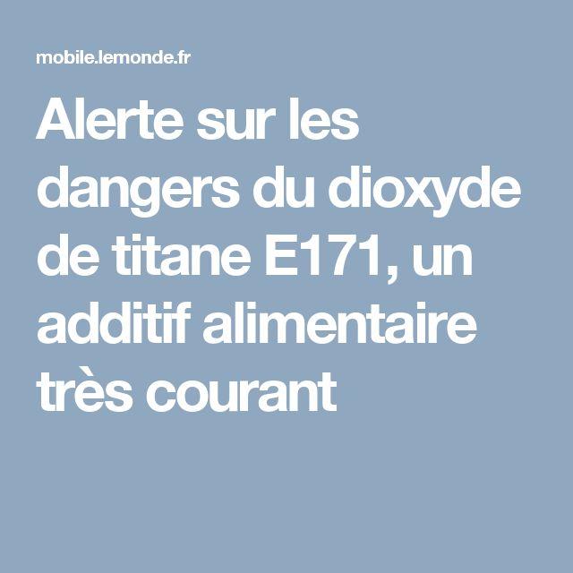 Alerte sur les dangers du dioxyde de titane E171, un additif alimentaire très courant