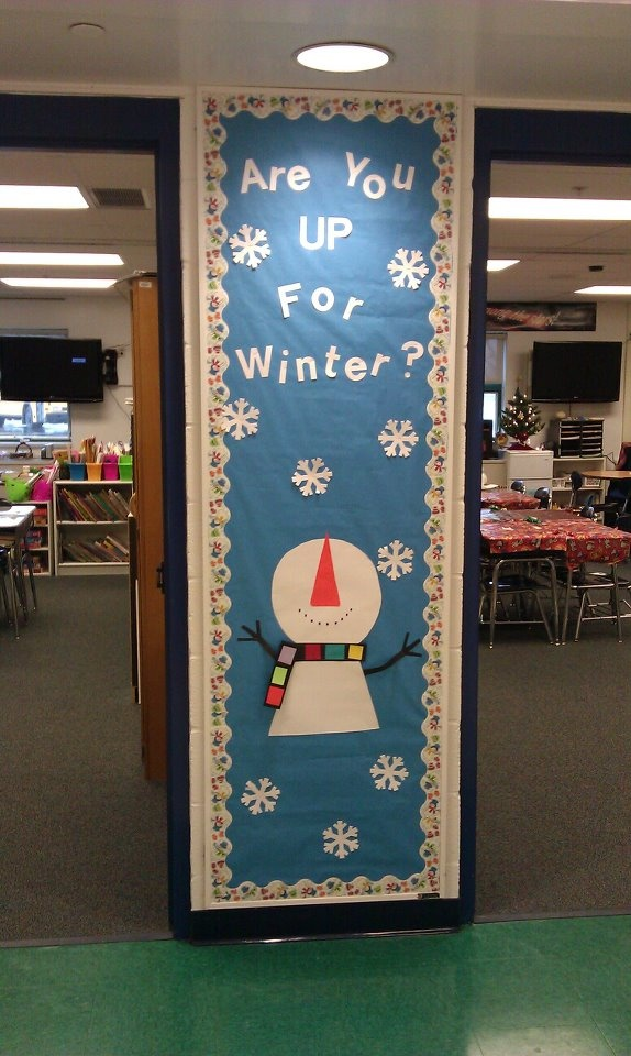 """Winter Bulletin Board-use the scripture """"lift up your eyes to the hills for where does your help come from"""""""