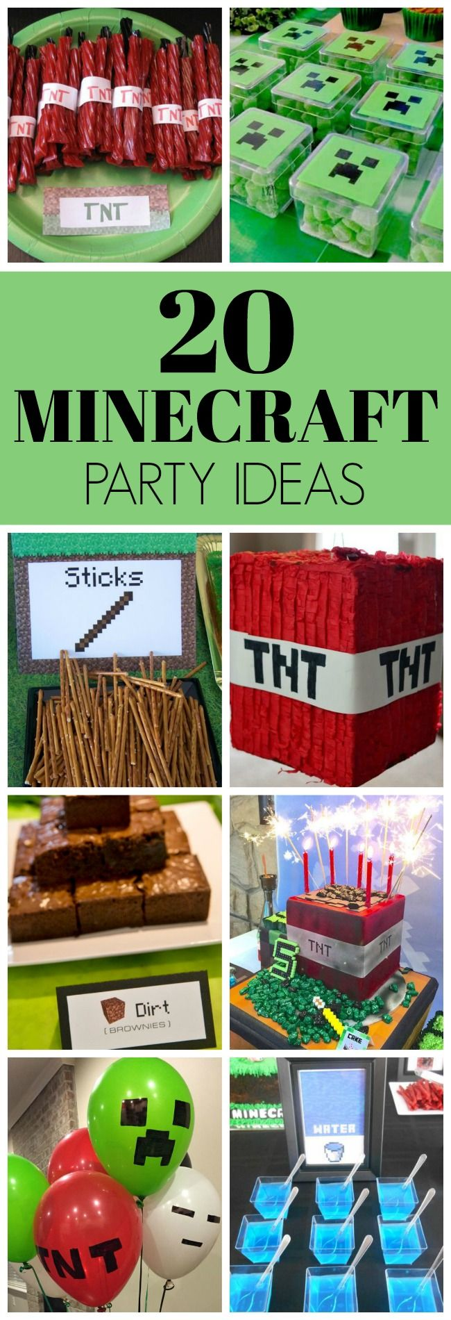20 Kids Minecraft Party Ideas | Pretty My Party