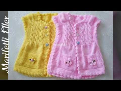 How to make a corked baby vest? (From top to bottom) - knitting patterns - knitting pattern - YouTube